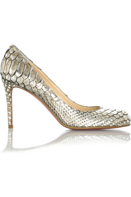 Louboutin simple python pumps