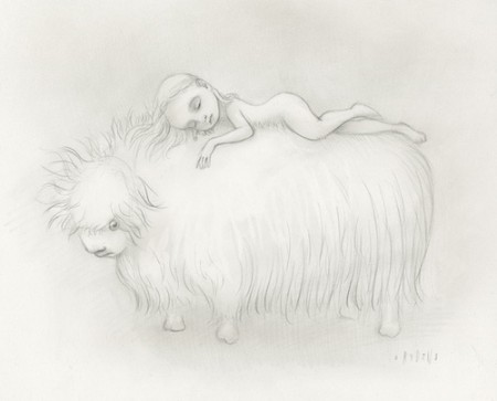 Girl-sleeps-on-yak-450x363